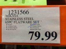 Costco-1231566-Mikasa –Stainless-Steel-65PC-Flatware-Set -tag