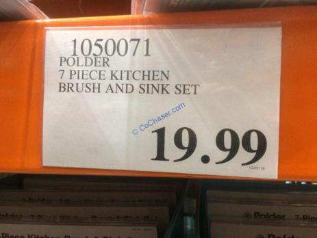 Costco-1050071-Polder-7Piece-Kitchen-Brush-Sink-Set-tag