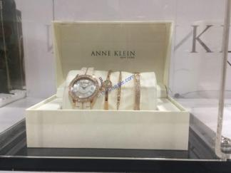 Costco-1255589-Anne-Klein-New-York -Pink -Ceramic –Watch-Bracelet-Set1