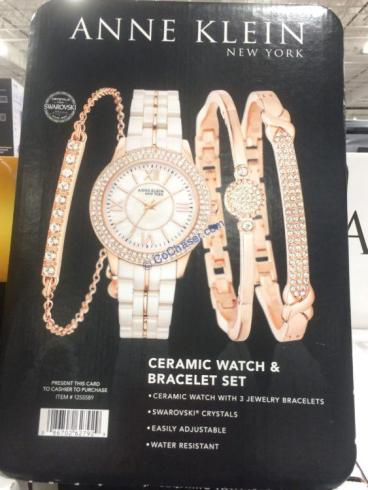 Costco-1255589-Anne-Klein-New-York -Pink -Ceramic –Watch-Bracelet-Set3