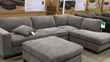 Superb True Innovations Fabric Sectional With Ottoman Costcochaser Creativecarmelina Interior Chair Design Creativecarmelinacom