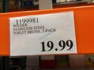 Costco-1199981-Polder-Stainless-Steel-Toilet-Brush-Set-tag