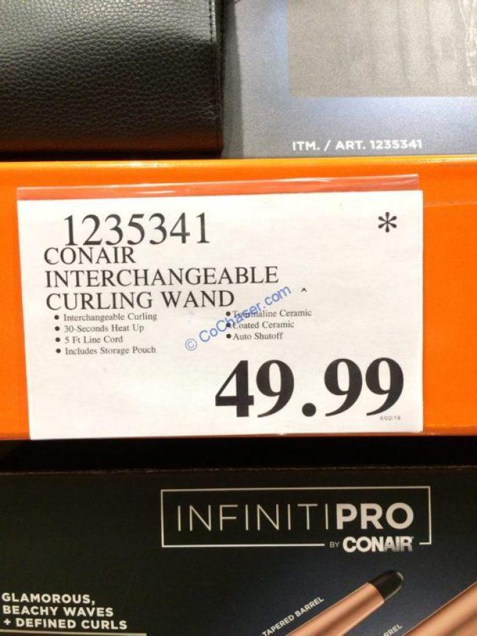 Conair Interchangeable Curling Wand Costcochaser
