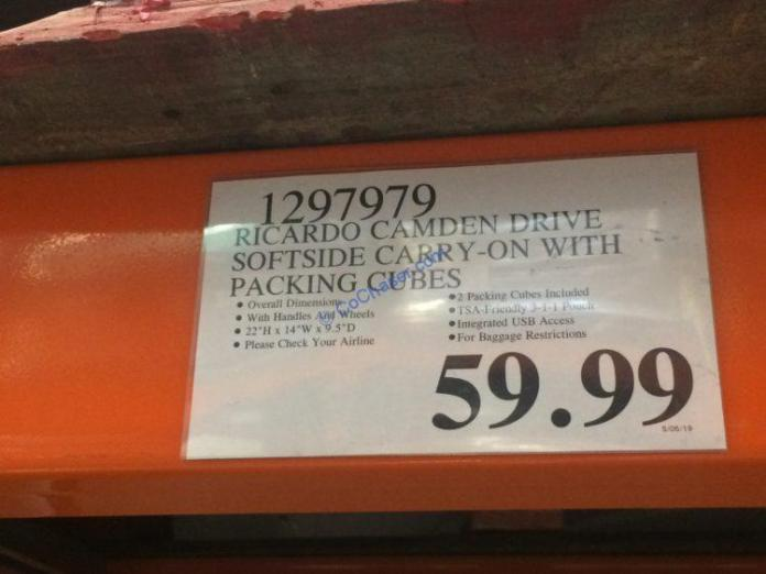 Costco-1297979-Ricardo-Camden-Drive-Softside-Carry-On-tag