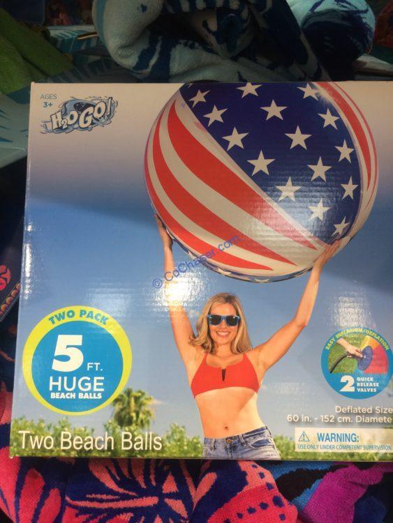 H2O Huge 5 FEET Beach Ball Set of Two