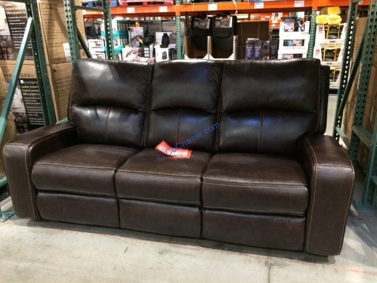 sawyer leather power reclining sofa