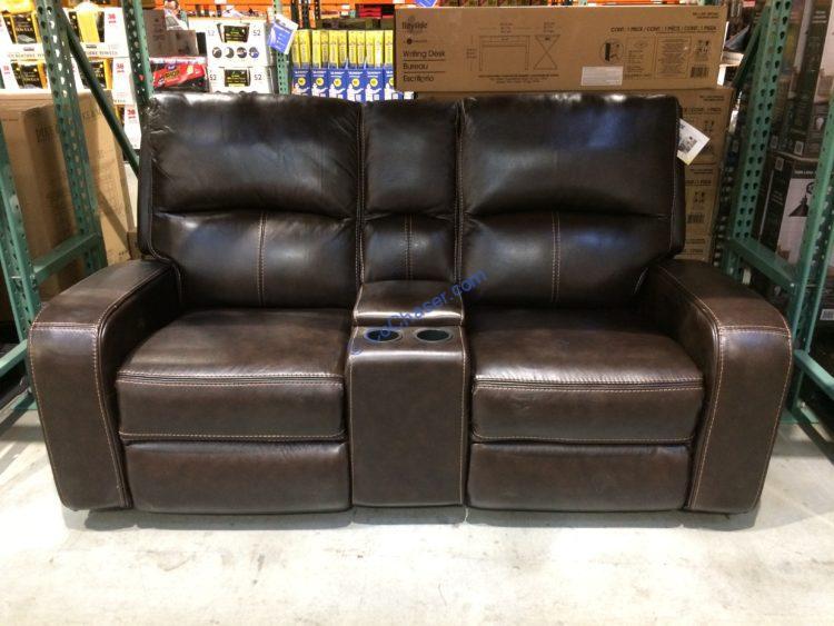 sawyer leather power reclining loveseat