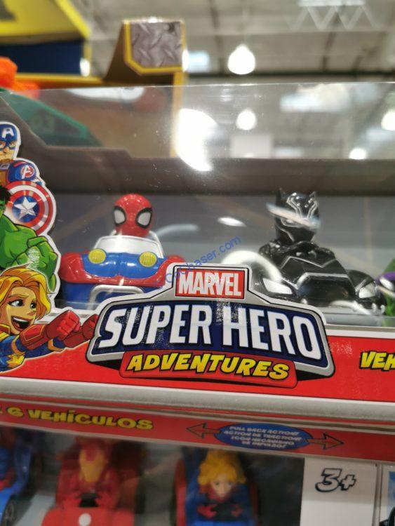Marvel Avengers Super Hero Adventures Pull-back action véhicule-Pack de 6