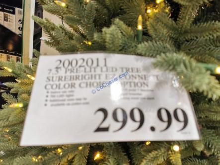 Costco-2002011-7.5-Pre-Lit-LED-Christmas-Tree-Surebright-EZ-Connect-Color-tag