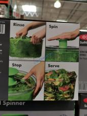 Costco-1371826-OXO-Softworks-Salad-Spinner-use