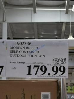Costco-1902336-Modern-Ribbed-Self-contained-Outdoor-Fountain-tag