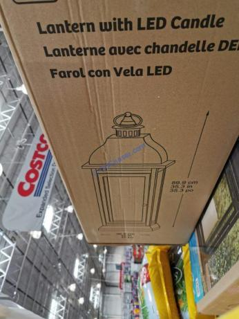Costco-1902220-Steel-Lantern-with-LED-Candle-size
