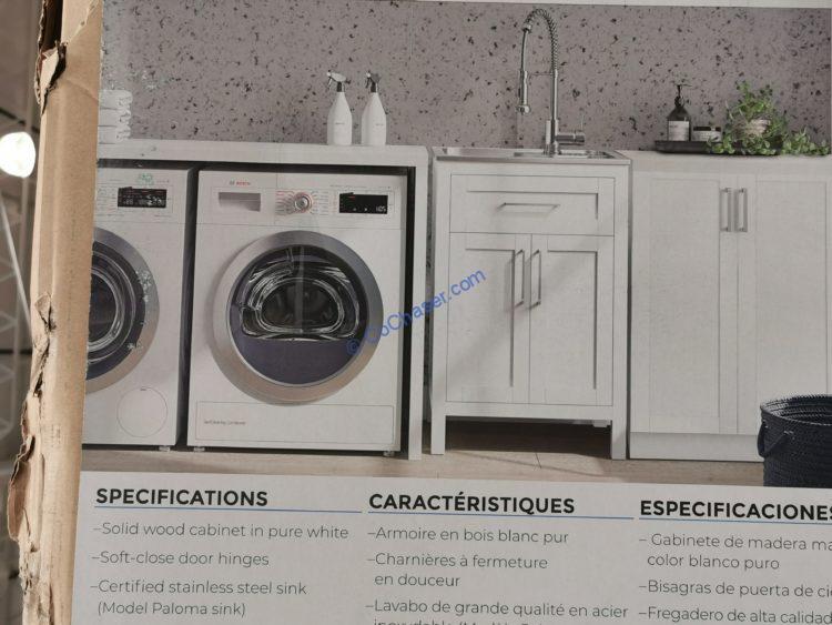 costco 1367218 paloma 22 utility sink