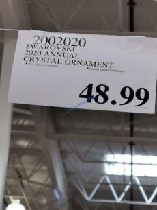 Costco-2002020-Swarovski=2020-Annual-Crystal-Ornament-tag