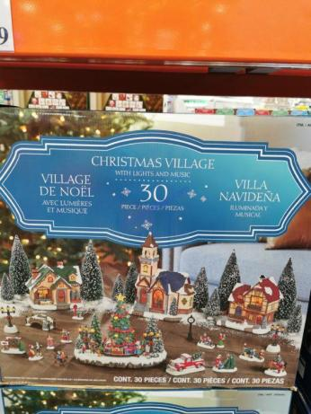 Costco-2005069-Holiday-Village-Set-with-Lights1