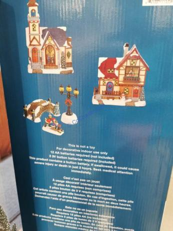 Costco-2005069-Holiday-Village-Set-with-Lights3