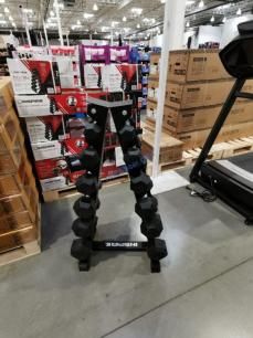 Costco-1480617-Inspire-Fitness-PVC-Hex-210lb-Dumbbell-Set