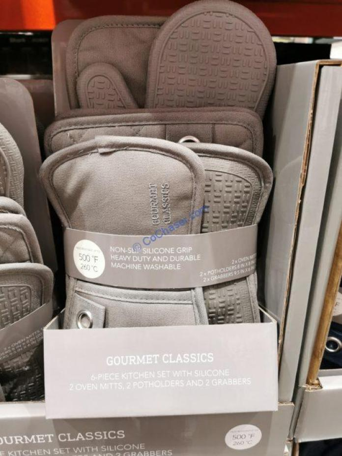 Costco-1424208-Gourmet-Classics-6PC-kitchen-Set-with-Silicone