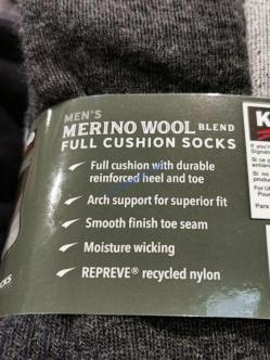 Costco-7771320-Kirkland Signature-Mens-Wool-Blend-Sock-spec