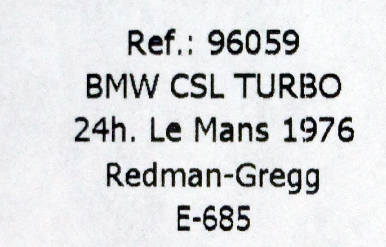 Bmw 3 5 Csl Turbo Art Car Frank Stella 24h Le Mans