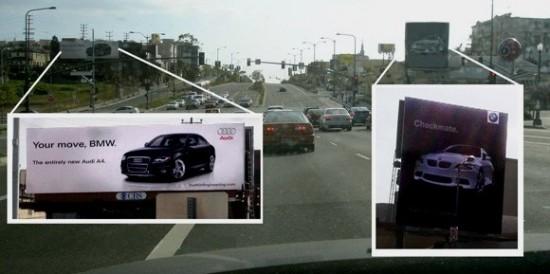 marketingdpo audivsbmw 550x274 Guerra publicitaria entre Audi y BMW
