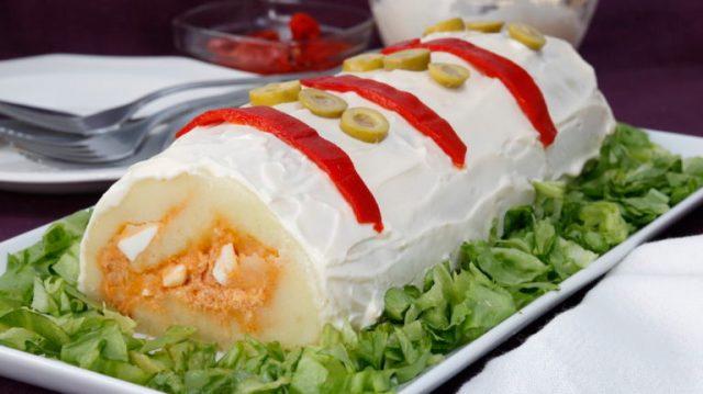 rollo de tortilla española