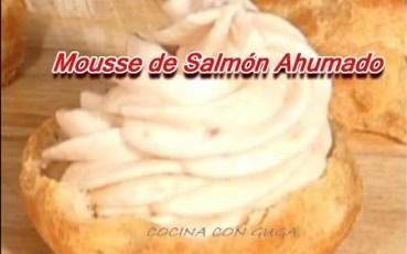cena de navidad mousse de salmon ahumado