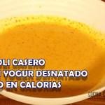Cómo hacer salsa alioli casera con yogur desnatado bajo en calorías