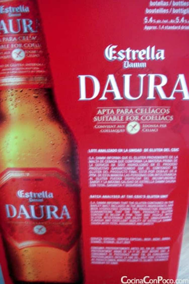 Cerveza apta para celiacos - Daura