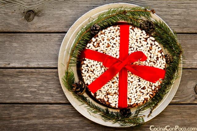 Riskake dulce postre de arroz y chocolate