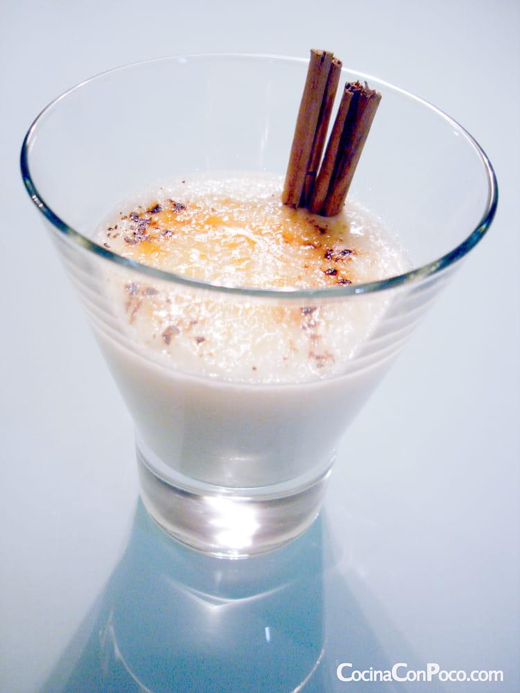 Crema de arroz con leche aromatizada con naranja
