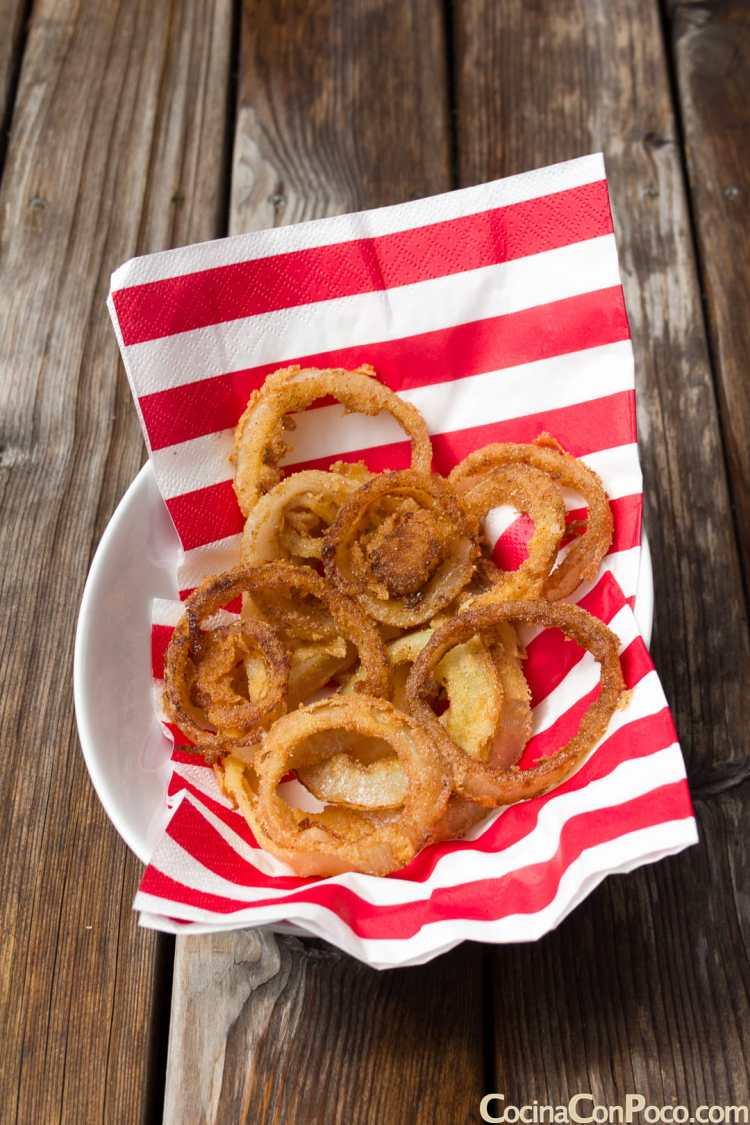 aros cebolla receta rebozados fritos caseros