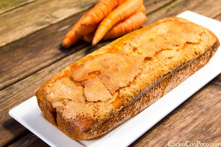 Bizcocho de zanahoria – Sin gluten