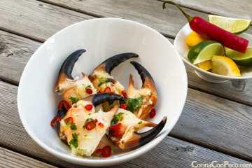 bocas de mar pinzas tenazas cangrejo cocidas receta