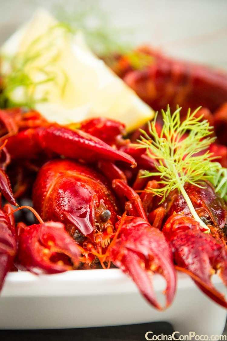 cangrejos de río receta