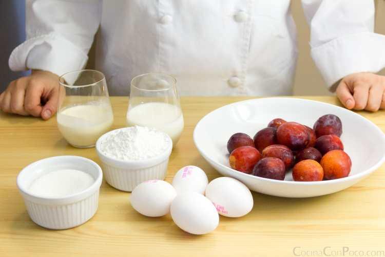 Clafoutis ciruela receta original sin gluten paso a paso