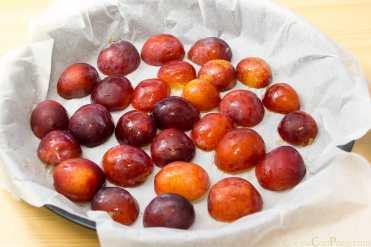 Clafoutis ciruela receta original sin gluten