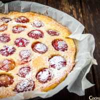 Clafoutis de ciruelas - Tarta francesa de ciruelas - Sin gluten - Paso a paso