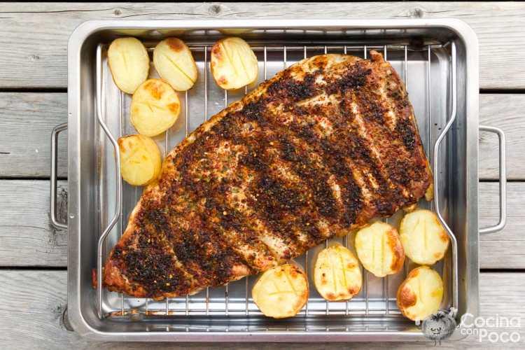 costillas de cerdo al horno con especias