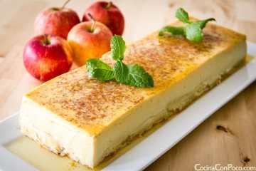 flan de manzana receta paso a paso