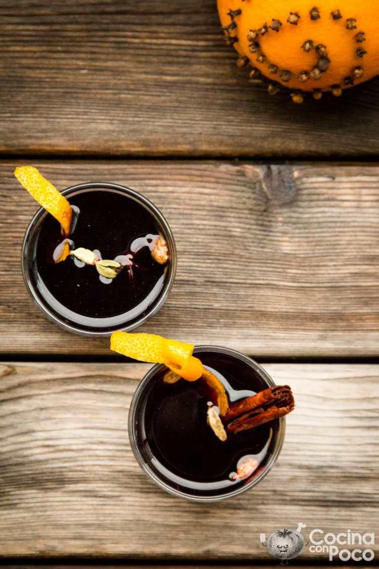 glogg sueco receta vino dulce caliente Navidad