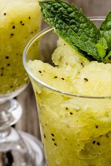 granizado de kiwi y melon