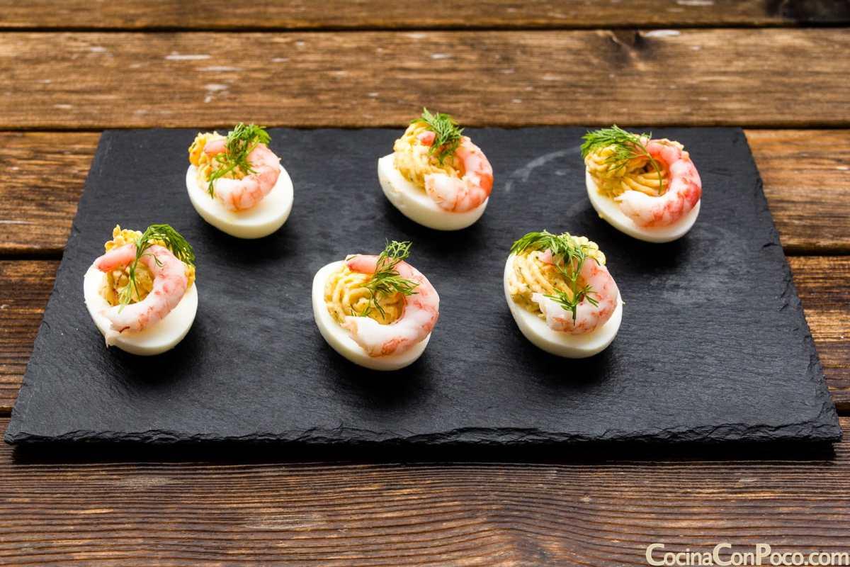 Huevos rellenos paso a paso cocina con poco recetas - Cocina navidad facil ...
