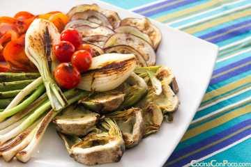 parrillada de verduras receta plancha