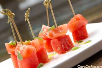 pincho sandia tomate receta tapa
