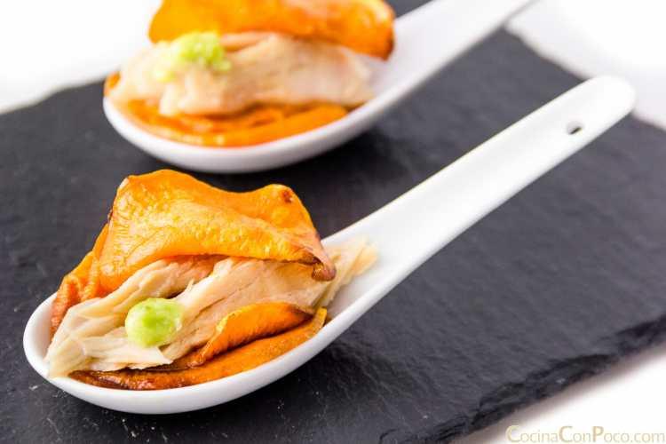 pincho ventresca bonito tapa wasabi