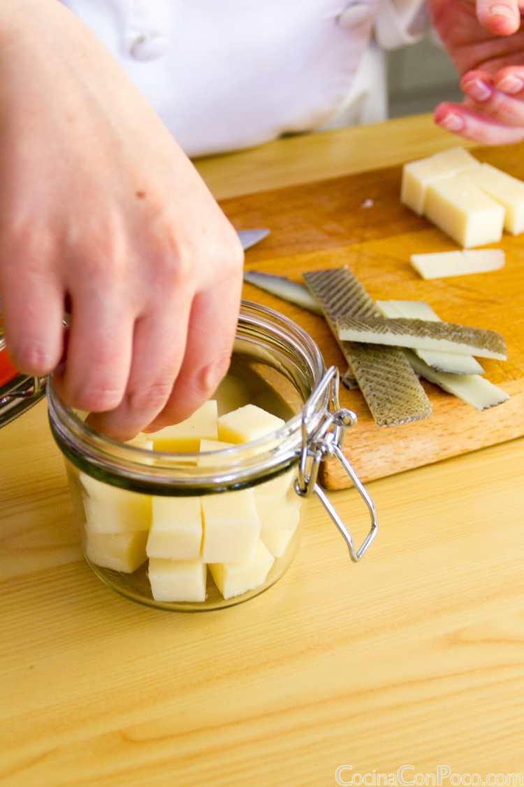como hacer queso en aceite receta casera