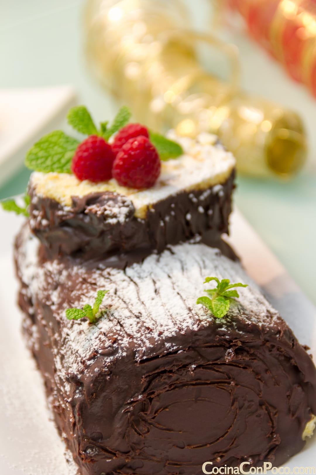tronco de Navidad sin gluten paso a paso