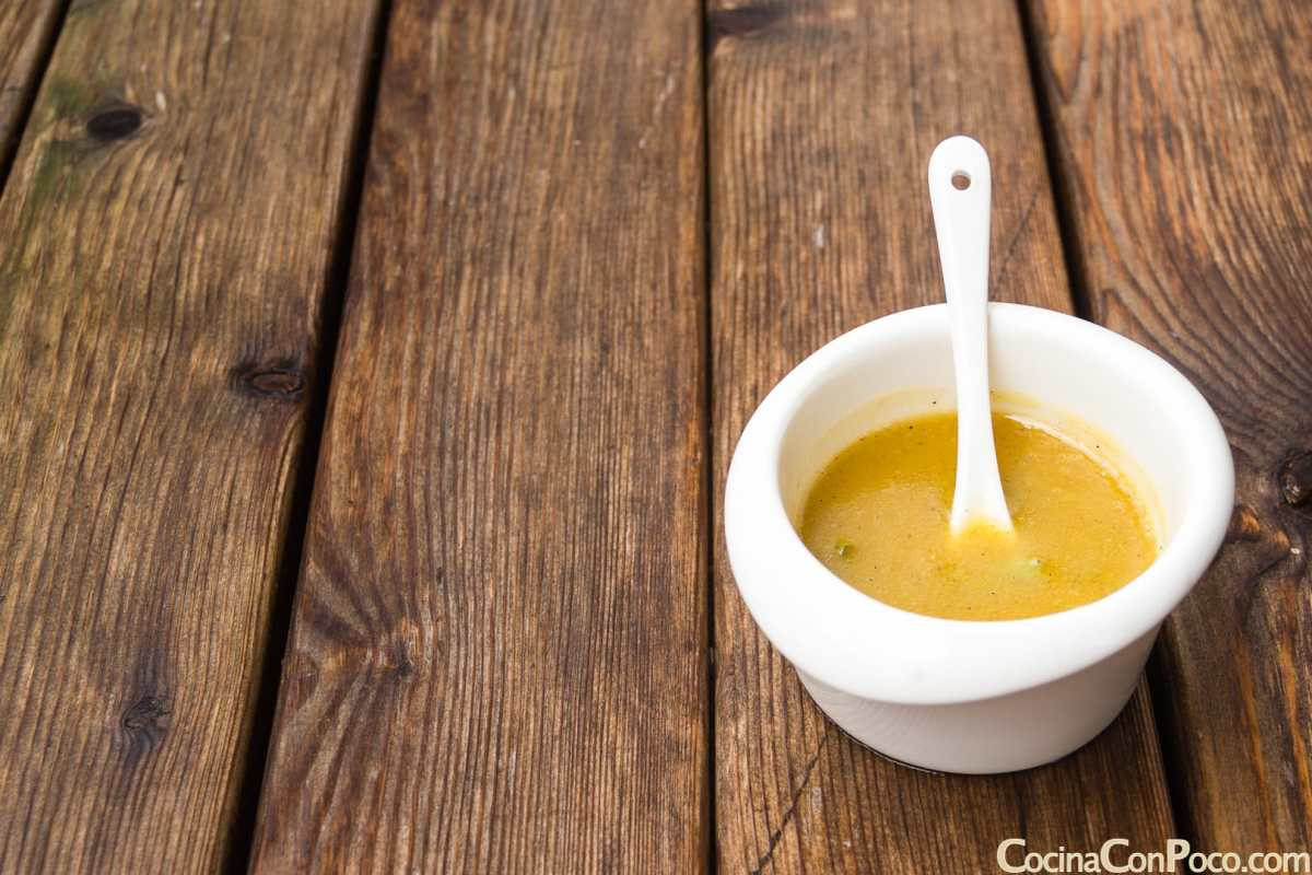 Salsa vinagreta para ensaladas y pescados - Paso a paso