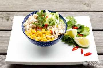 sopa fideos chinos transparentes receta